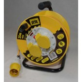 Cable Reel CRP25110 - Plasric Drum, 25m, 110v, 2 x 16A 3pin (BSEN 60309) sockets.