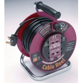 Cable Reel CRP25230 - Plastic Drum, 25m, 230v, 4 x 13A 3pin (BS 1363) sockets.
