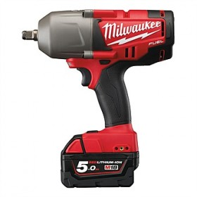 "Milwaukee M18CHIWF12-503X Cordless Impact Wrench 1/2"" 18 Volt 5.0Ah c/w 3 x Batteries"