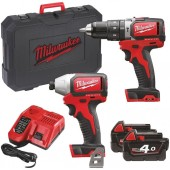Milwaukee M18 BLPP2B-402c Twin Pack c/w 2 x 4.0ah Li-ion Batteries