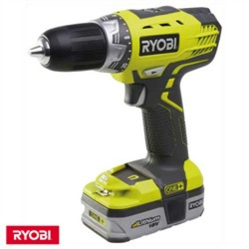 ryobi rcd18021l one 18v cordless compact drill driver 1. Black Bedroom Furniture Sets. Home Design Ideas